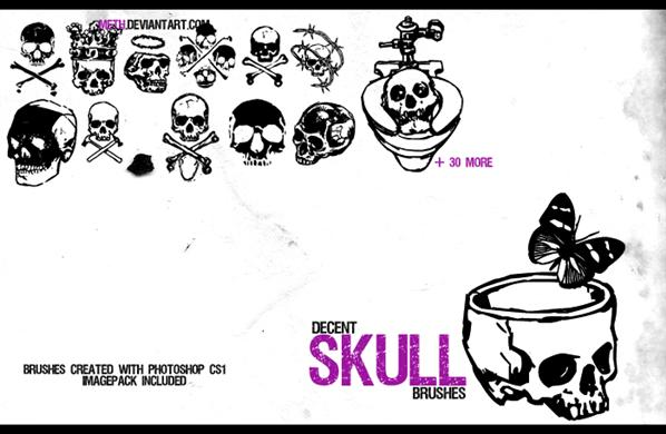 skullz by meth photoshop resource collected by psd-dude.com from deviantart
