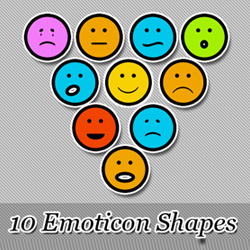 Free Emoticon Shapes psd-dude.com Resources