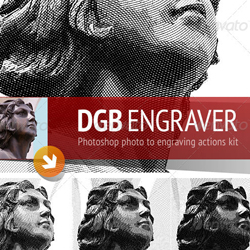 Engrave Illustration Style Photoshop Tutorials and Actions psd-dude.com Resources