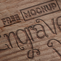 Engraved <span class='searchHighlight'>Wood</span> Mockup with Free PSD psd-dude.com Resources