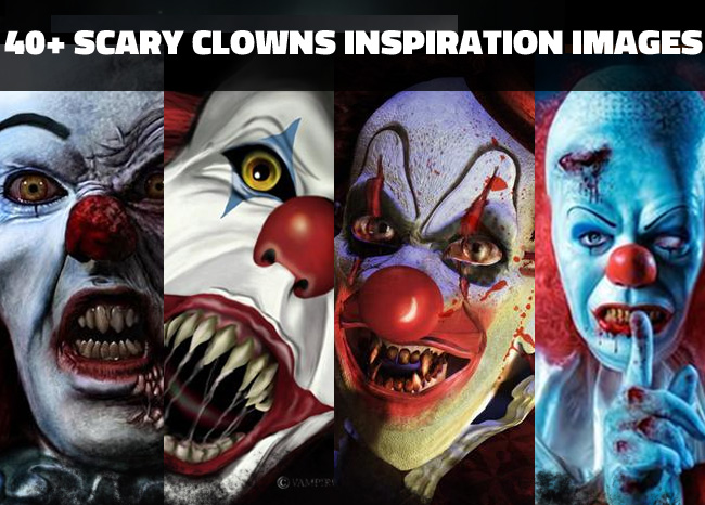 20 Scary clown pictures Halloween photo manipulations
