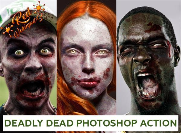 Dead Zombie Portrait Effect Photoshop Action