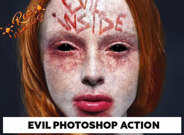 Evil Portrait Effect Photoshop Action