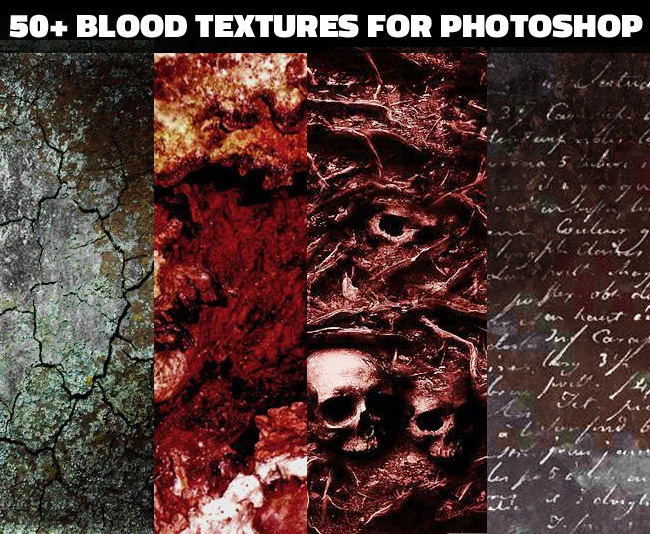 Macabre horror textures for photoshop manipulation