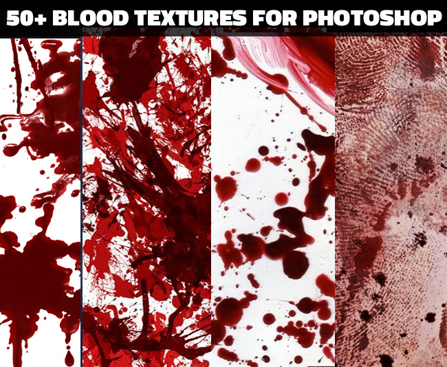 Must Have Blood textures for photoshop