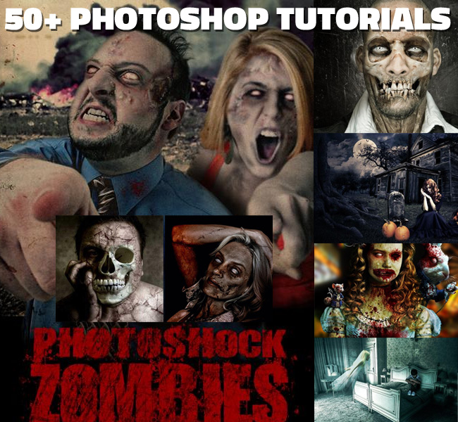 Over 25 Dark horror photoshop tutorials collection