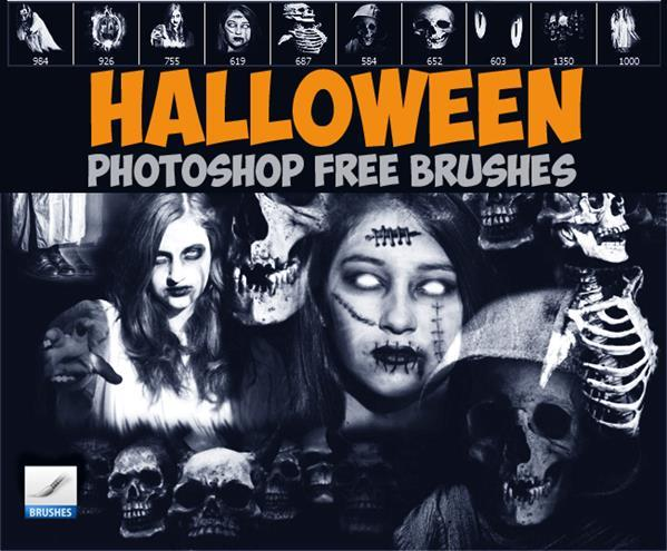 Photoshop horror brushes for halloween