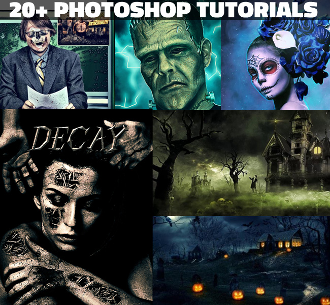 Scary and horror photoshop tutorials for halloween