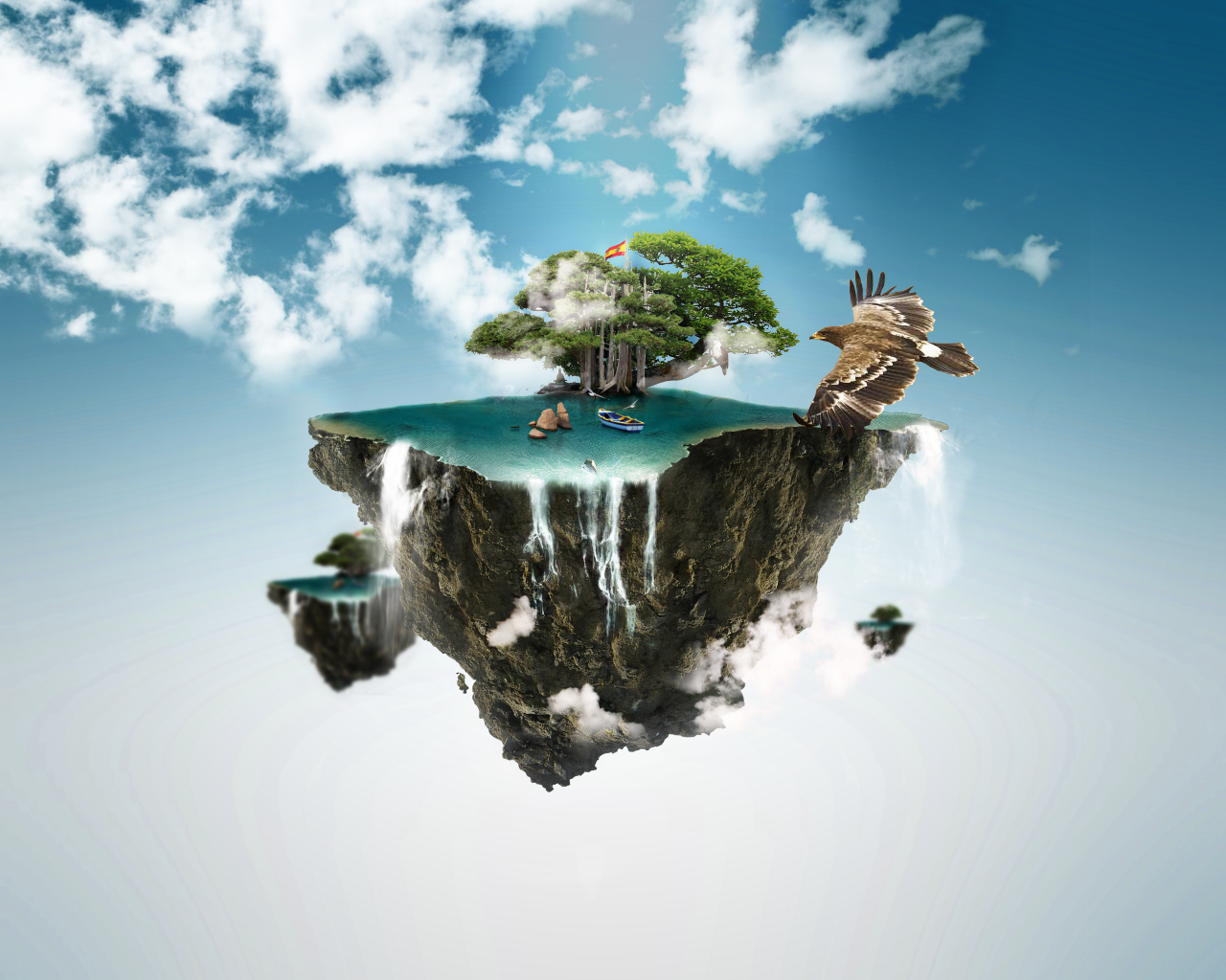 clouds hook floating islands - photo #14