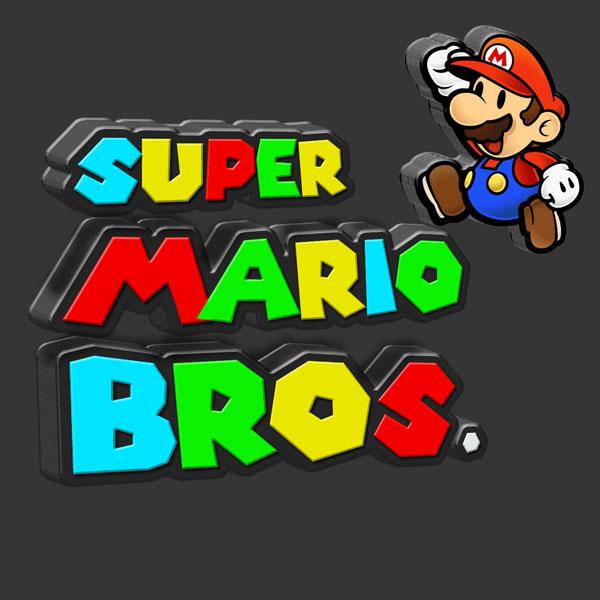 3D Super Mario Plastic Text in Photoshop - Photoshop