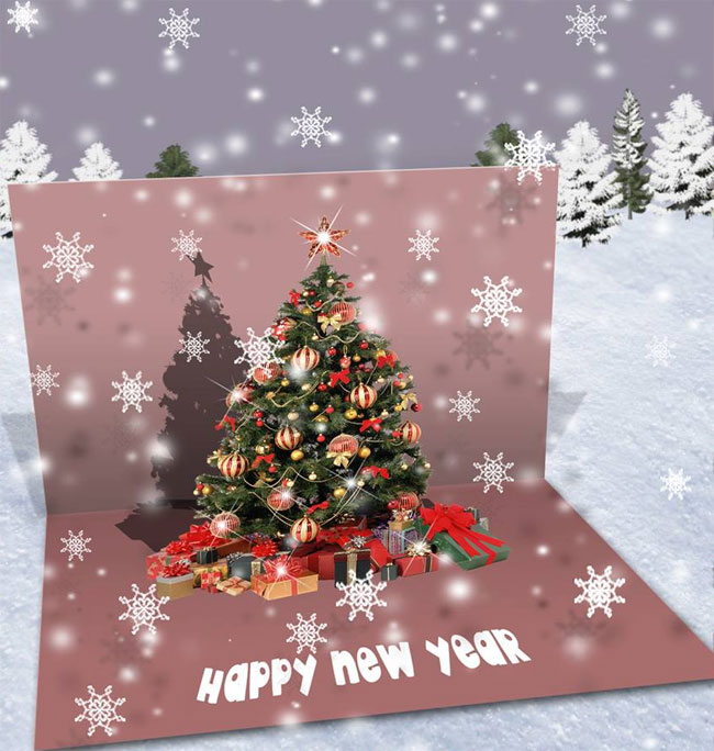 Create A Christmas Pop Up Greeting Card In Photoshop
