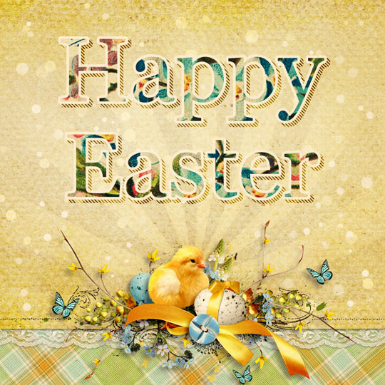 Create An Easter Vintage Card In Photoshop