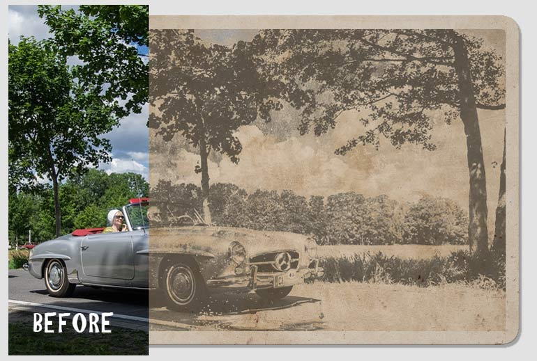 How To Make A Photo Look Old And Scratched In Photoshop Photoshop