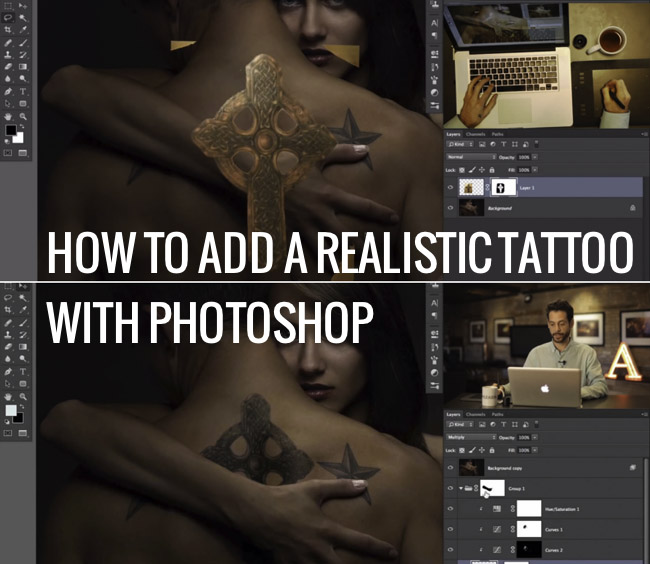 create a tattoo in photoshop photoshop tutorial psddude. Black Bedroom Furniture Sets. Home Design Ideas