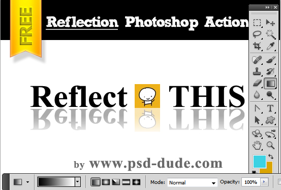 Reflections in Photoshop Tutorial, graphics and text ...