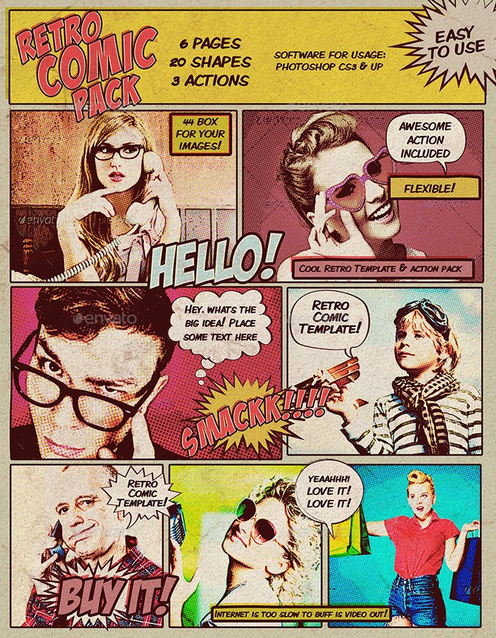 Retro Comic Photoshop PSD Template DOWNLOAD HERE Reply