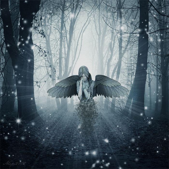 The sad angel photoshop tutorial photoshop tutorial psddude - Sad angel wallpaper ...