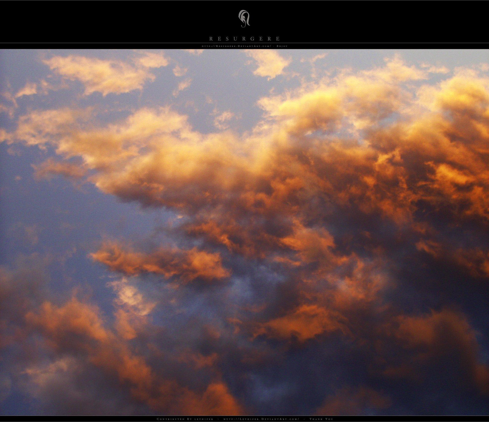 Psd Sun Effect Sky Clouds Sunset