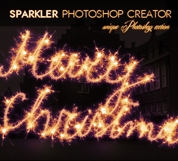 Sparklers Light Trail Photoshop Action