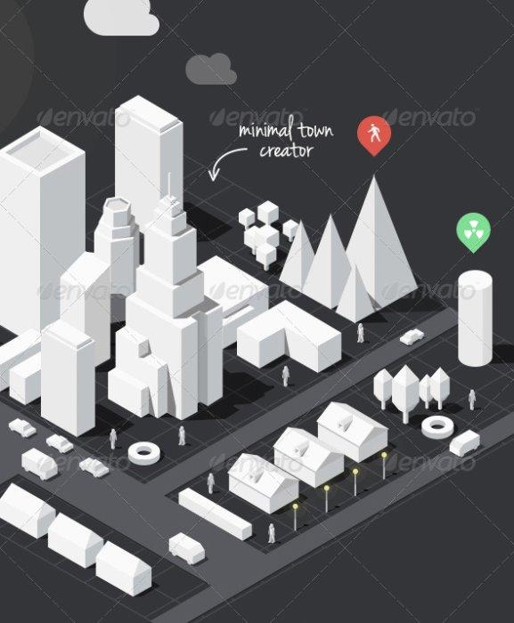 3D Map Photoshop Creator Premium Files | PSDDude