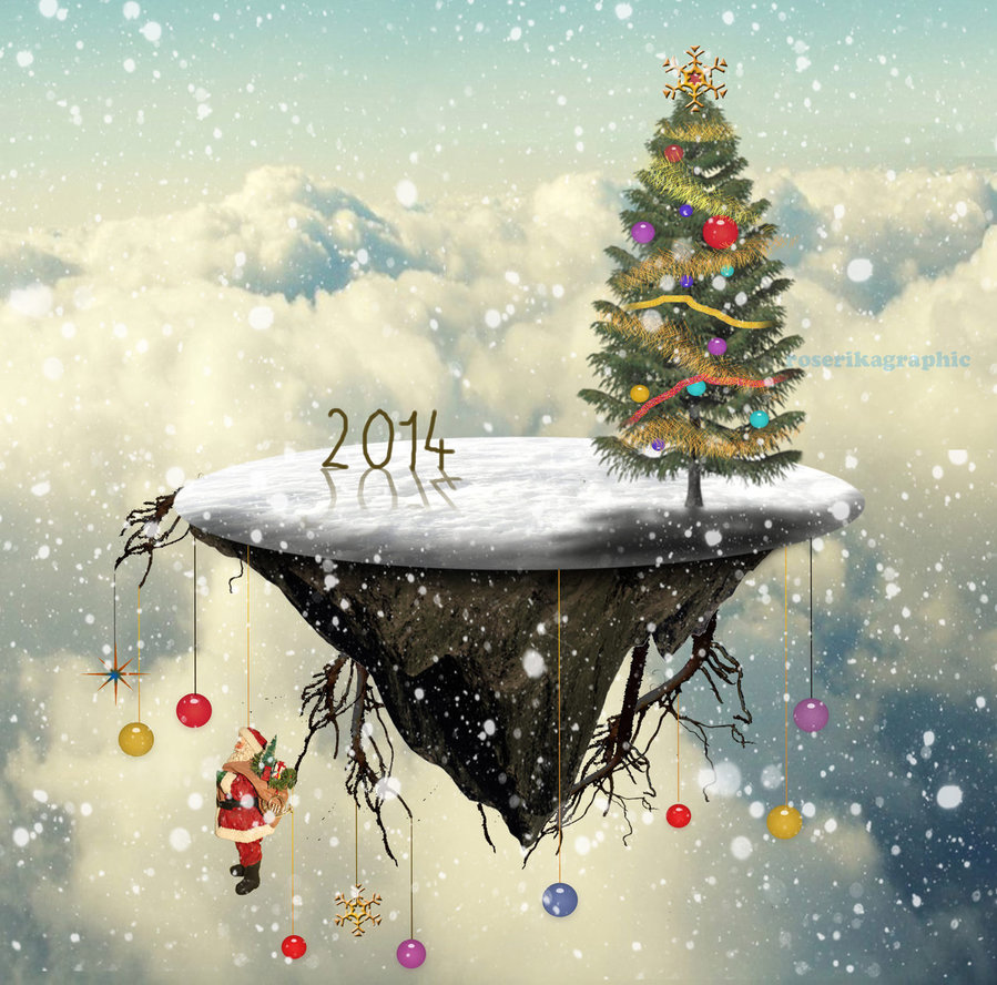 Create a Christmas Tree Floating Island in Photoshop ...