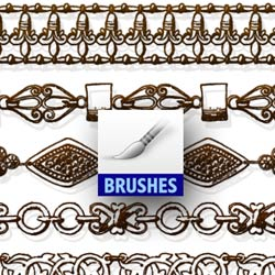 Vintage Border Brushes for Photoshop psd-dude.com Resources