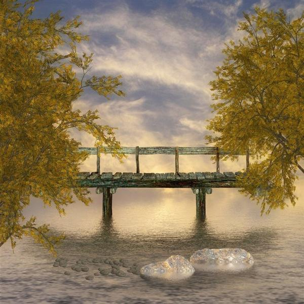 Old Wooden Bridge by beilart photoshop resource collected by psd-dude.com from deviantart