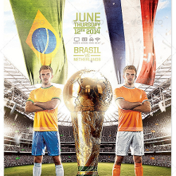 Photoshop Sport Event Flyers FIFA World Cup Brazil 2014 psd-dude.com Resources