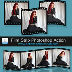 Film Strip Photoshop Free Action psd-dude.com Resources