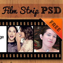 Film Strip Vector PSD Free Template psd-dude.com Resources