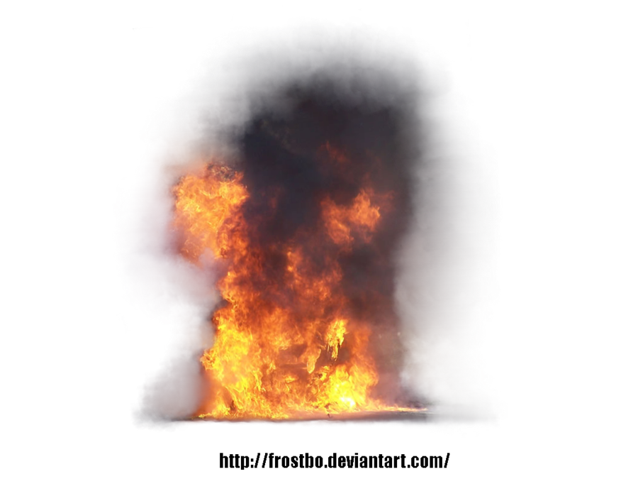 Fire and Smoke Explosion Stock Image
