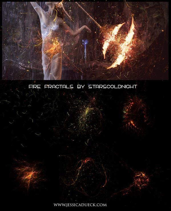 Fire sparks Fractals Free Download