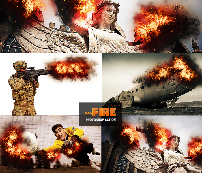 Add Fire Effects Photoshop Action