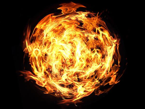 Burning Fireball Effect Free Background Image