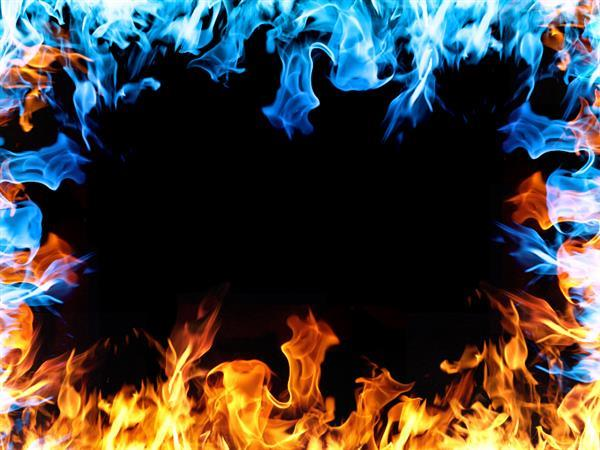 Fire Flames Edge Border Texture Overlay for Photoshop