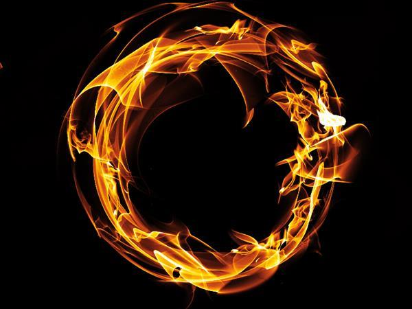 Ring of Fire with Real Flames Free Background