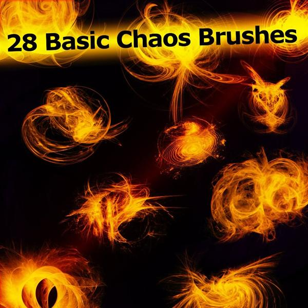 28 Basic Chaos Brushes by XResch photoshop resource collected by psd-dude.com from deviantart