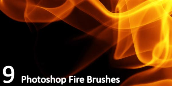 9 Fire brushes by Resource42 photoshop resource collected by psd-dude.com from deviantart