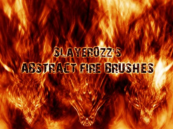 Abstract Fire Brushes by Slayer0zZ photoshop resource collected by psd-dude.com from deviantart