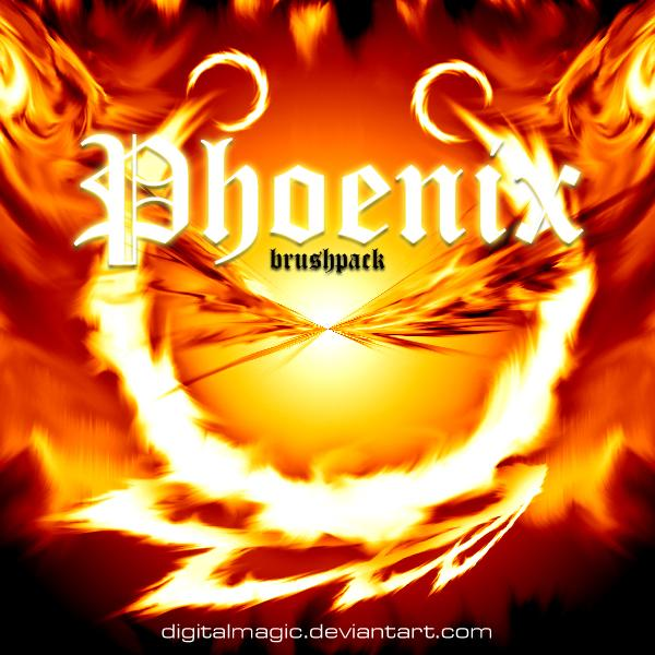 DiGiTAL Phoenix Brushpack by DiGiTALMAGiC photoshop resource collected by psd-dude.com from deviantart