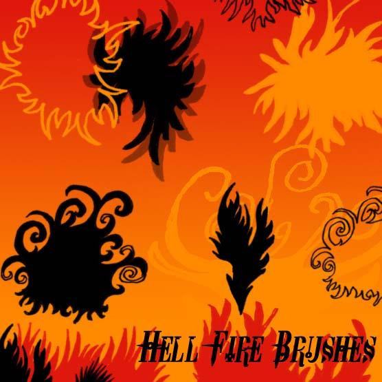 Hell Fire Brushes by circle--of--fire photoshop resource collected by psd-dude.com from deviantart