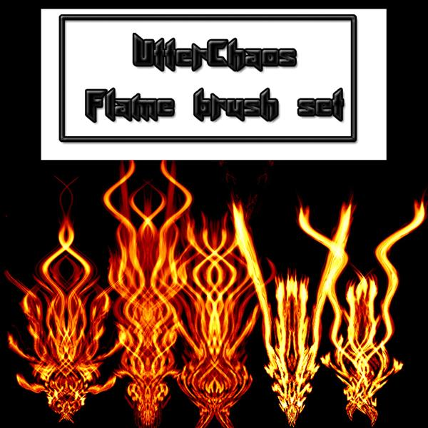 UtterChaos flame set by UtterChaos photoshop resource collected by psd-dude.com from deviantart