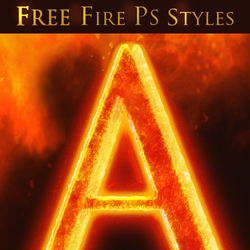 Fire and Lava Photoshop Text Style Free Mockup psd-dude.com Resources