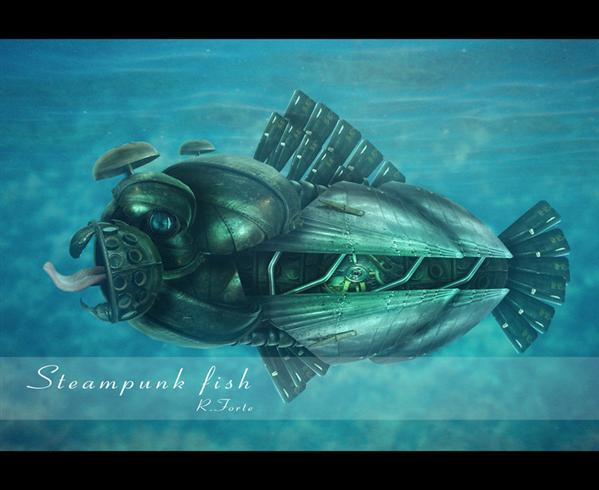 steampunk fish by bobstrong photoshop resource collected by psd-dude.com from deviantart
