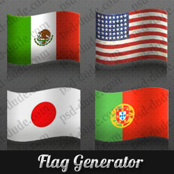 Photoshop Flag Action Generator psd-dude.com Resources