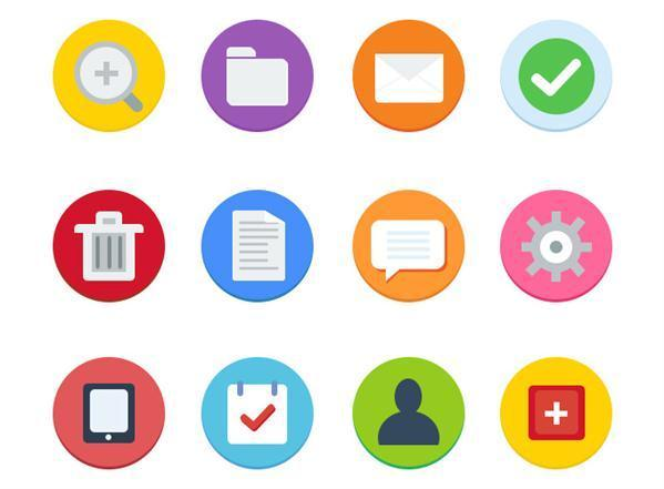 Flat Icons with PSD File