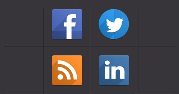 Social Icons with Flat Design