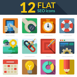 Flat Design Icons with PSD psd-dude.com Resources