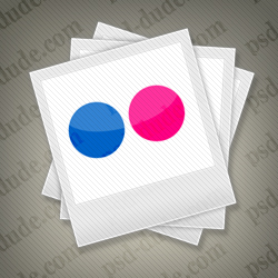 Free Flickr Icons with PSD File psd-dude.com Resources