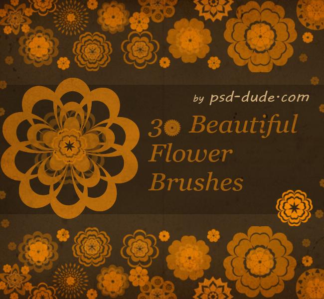 30 Photoshop Floral Brushes - photoshop resource by psd-dude.com